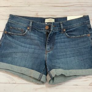 Denim Roll Shorts size 2 Loft